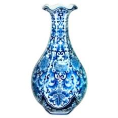 Голубая ваза для цветов (высота 45,5 см)