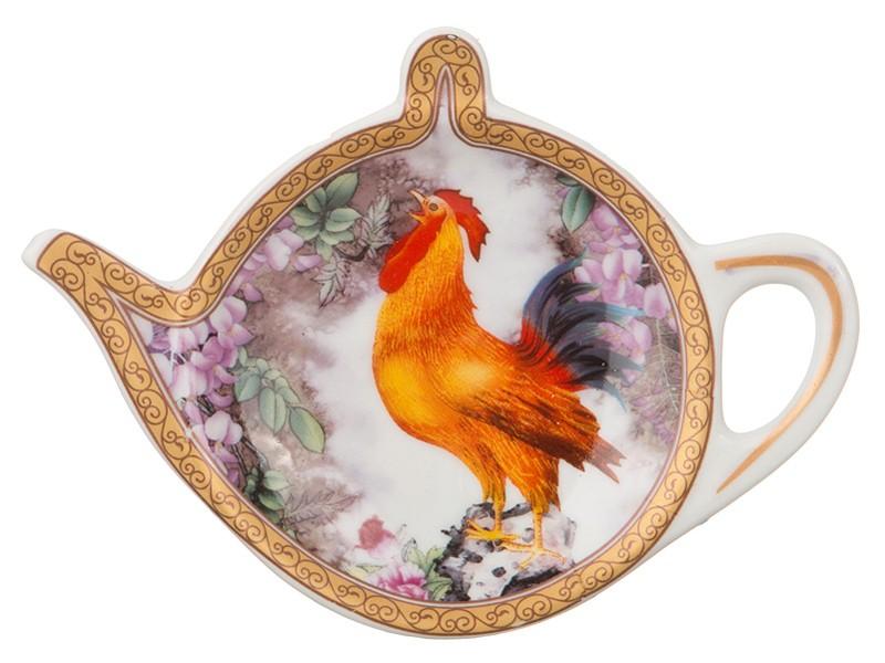 Подставка для чайного пакетика Петух