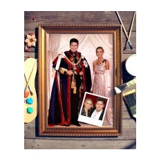 Парный портрет по фото Королевская чета