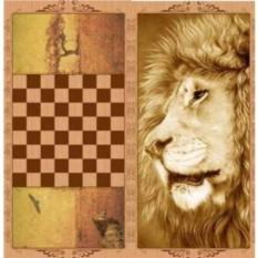 Нарды Лев в деревянном коробе