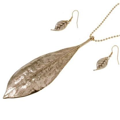 Комплект бижутерии «Листья-крылья»