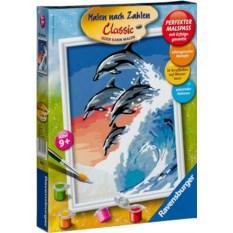 Раскраска по номерам Ravensburger Дельфины