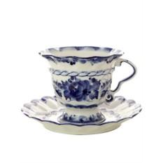 Чайная пара с художественной росписью Гжель Жигунова