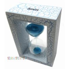 Оригинальные песочные часы 5 минут, синий песок