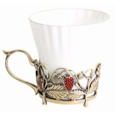 Чашка-одуванчик Земляника