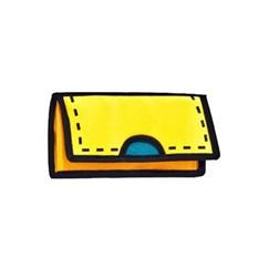 Желтый мультяшный клатч