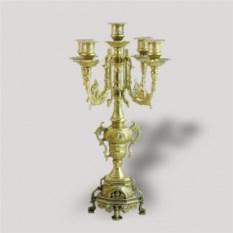 Латунный канделябр на 5 свечей