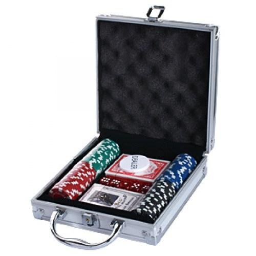 Набор для покера 100 фишек в алюминиевом кейсе