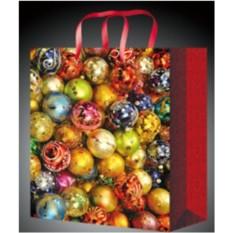 Новогодний пакет для подарков Шары