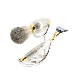 Бритвенный набор S.Quire золотисто-серебристого цвета