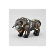 Керамическая статуэтка Черный бык