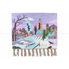 Гобелен Зима в деревне