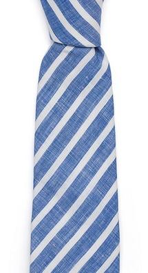 Синий в полоску галстук Fumagalli из льна