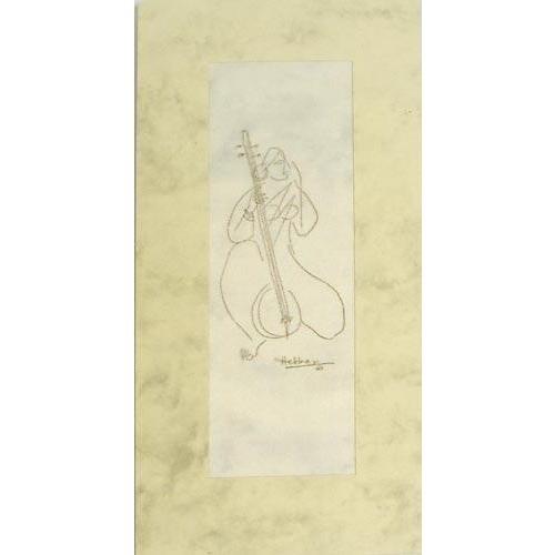 Открытка ручной работы с конвертом