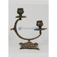 Пара канделябров из бронзы на 3 свечи Полумесяц