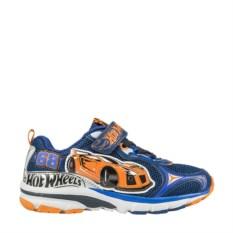 Синие с оранжевым рисунком кроссовки Hot Wheels