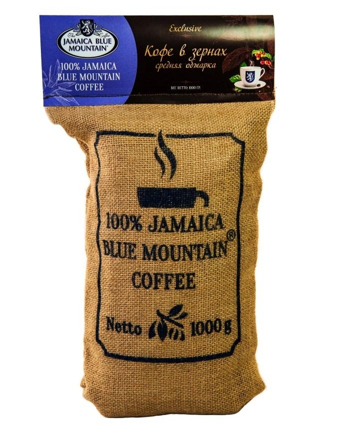 Кофе Ямайка Блю Маунтин, зерно, обжарка средняя (1 кг)