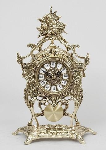Бронзовые часы с маятником Цветы