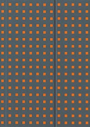 Блокноты Paper-oh Quadro Серый на оранжевом