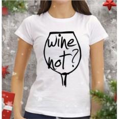 Женская футболка Wine not