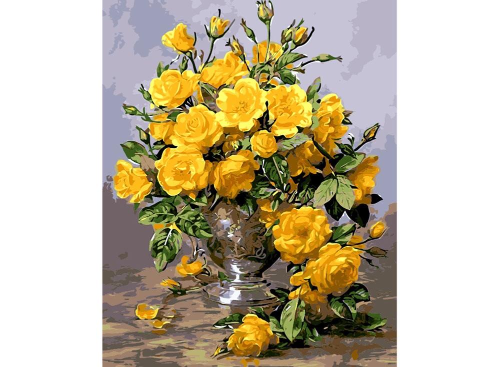 Картины по номерам «Желтые розы»