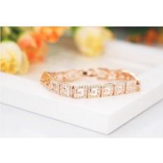 Позолоченный браслет «Греческие мотивы» с кристаллами
