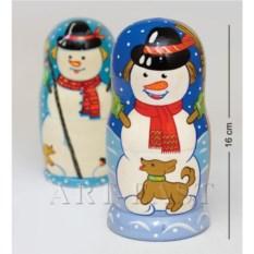 Матрешка Снеговик Леня