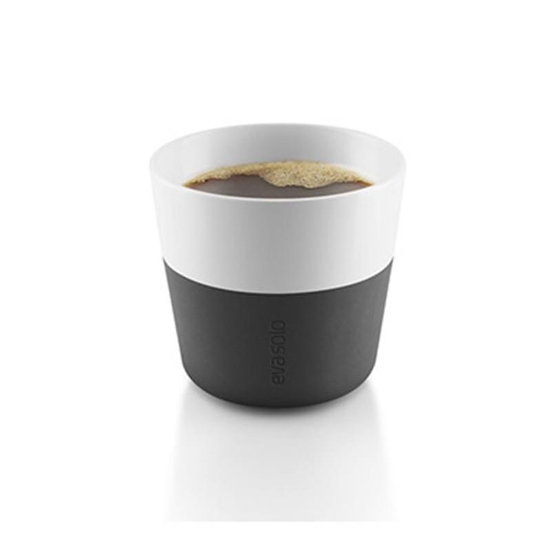 Черные фарфоровые чашки Lungo