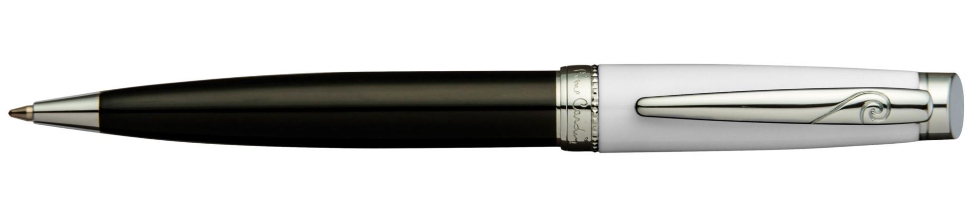 Черно-белая лаковая шариковая ручка Pierre Cardin Luxor