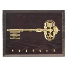 Настенная открытая ключница Золотой ключик