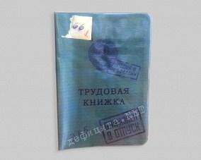 Обложка для паспорта «Трудовая книжка» зеленая