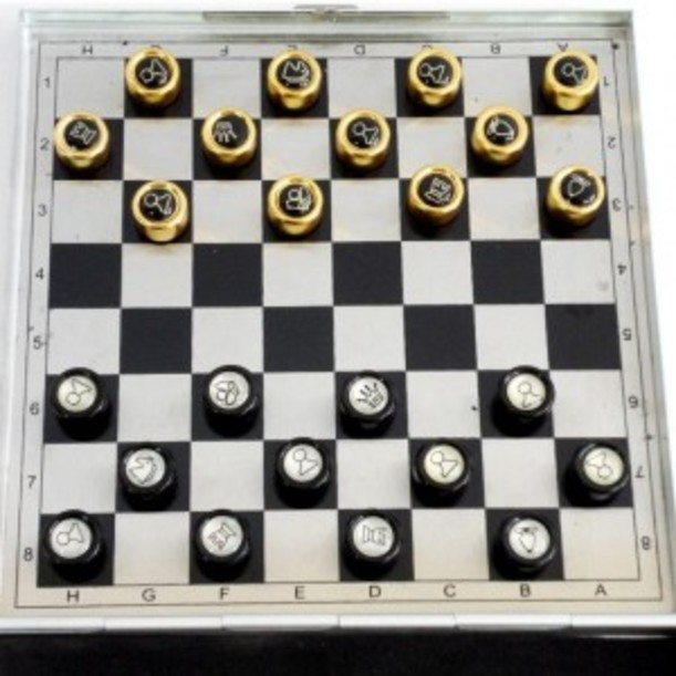 Магнитный игровой набор Шахматы+шашки