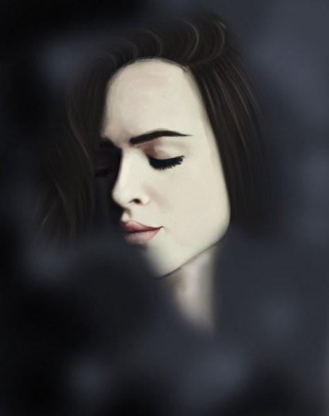 Женский портрет маслом