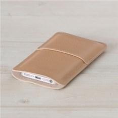 Кожаный бежевый чехол Walster для iPhone 4/4s