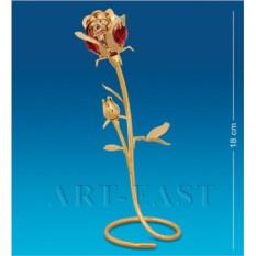 Фигурка с красными кристаллами Swarovski Роза