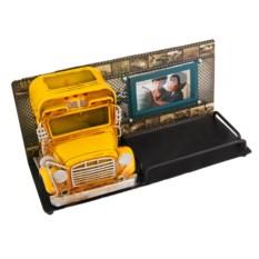 Фоторамка с подставкой для ручек Школьный автобус