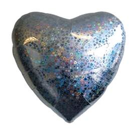 Шар из фольги Сердце, серебряное