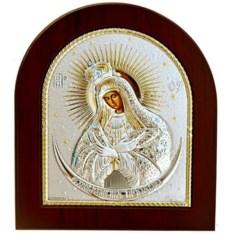 Остробрамская икона Божьей Матери в серебряном окладе