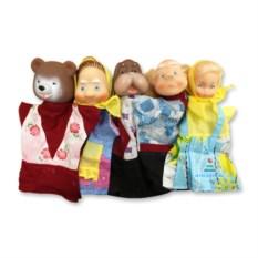 Домашний кукольный театр «Маша и медведь» с 6 персонажами