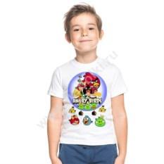Детская футболка с героем Angry birds