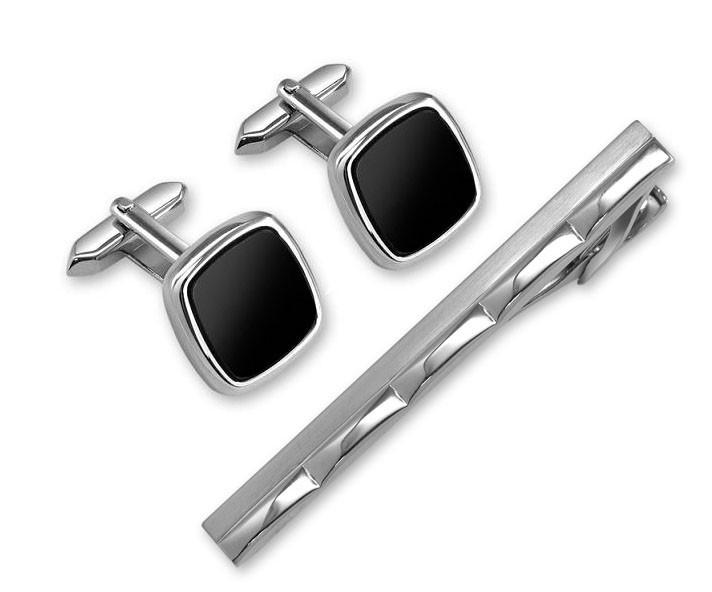 Набор: заколка для галстука + запонки. S.QUIRE EG-11742