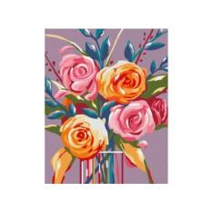 Картины по номерам «Нежные розы»