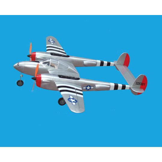 Радиоуправляемый самолет P-38 Lightning-12 silver