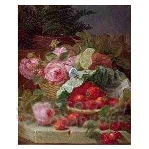 Картина «Клубника и розы»