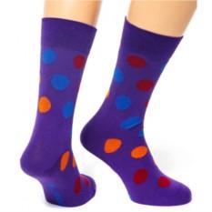Фиолетовые носки Friday Dots