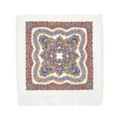 Шерстяной платок с шелковой бахромой Романтика