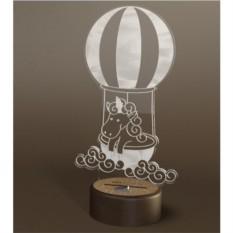 3D светильник Onilight Единорог на воздушном шаре