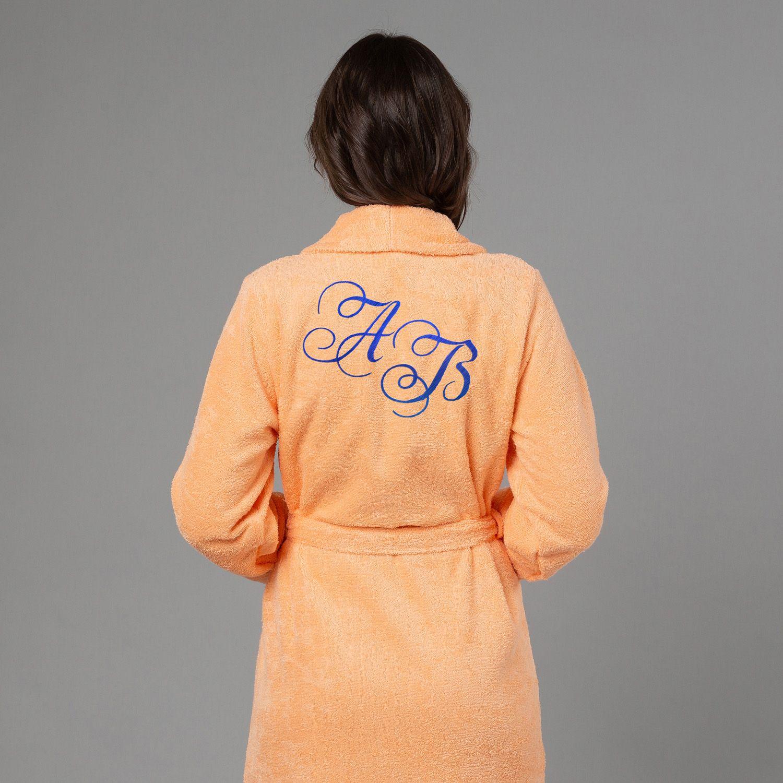Женский халат с вышивкой Инициалы