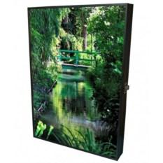 Настенная ключница-картина Тропический сад