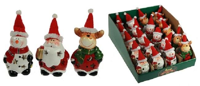 Новогоднее украшение Дед Мороз, снеговик, олень